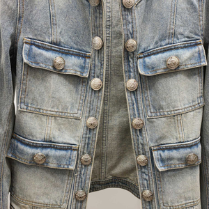 Image 4 - Kurtka dla kobiet wysokiej jakości 100% bawełny kurtka dżinsowa z długim rękawem płaszcz dżinsowy na zimę znosić 2019