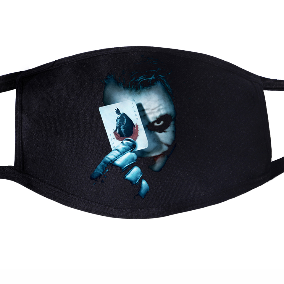 Joker Jack NapierVillain Eric Border Poker Dustproof Mouth Masks Face Unisex Reusable Fabric Anti Black Pollution Washable Mask