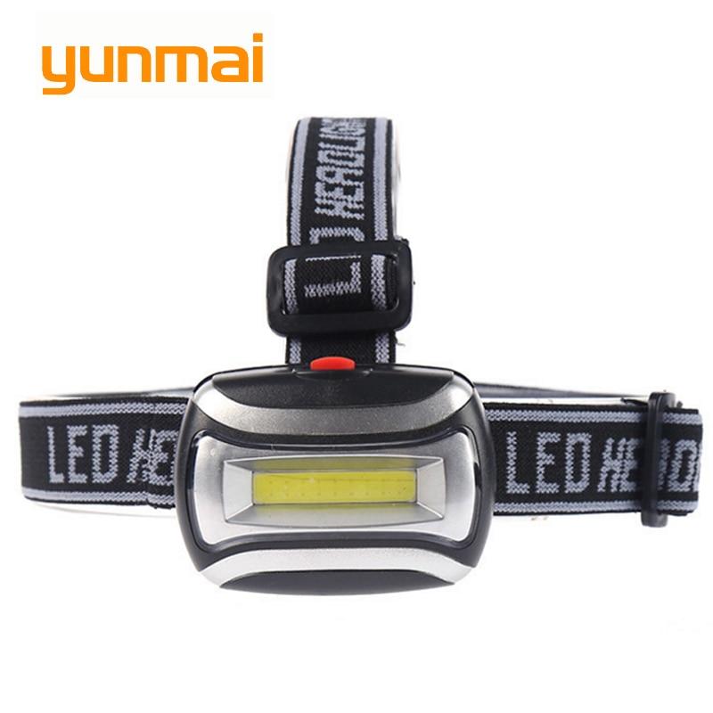Mini COB LED Headlamp 3 Modes Waterproof Headlight Head Flashlight Torch Lanterna For Outdoor Camping Night Fishing
