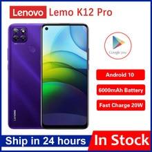 Оригинальный телефон Lenovo Lemo K12 Pro 4G мобильный телефон 6,8 дюймов Snapdragon662 Octa Core 6000Mah аккумулятор большой емкости 64,0 задняя камера смартфона