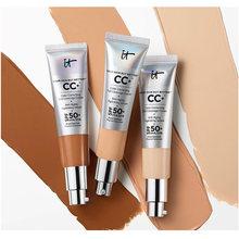 Venda quente it cosméticos cc + creme spf50 cobertura completa base de luz média fundação líquida maquiagem clareamento sua pele mas melhor
