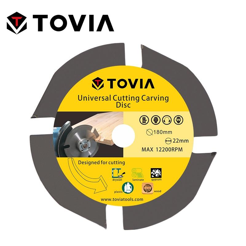 TOVIA 180mm Универсальный Пильный Диск по Дереву для УШМ 7inch 22.22mm по Газобетону Гипсокартону Пластику лезвия лезвие алмазный диск пилы для распил...