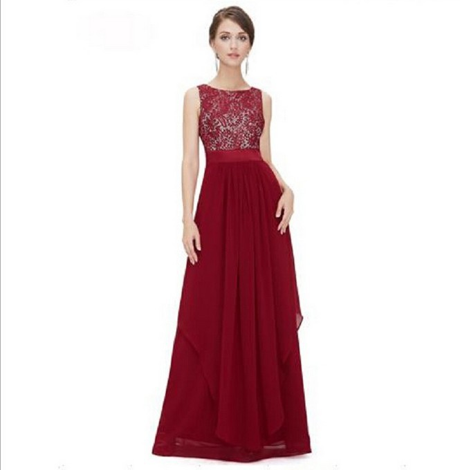 Contact Order 2016 Europe And America New Style WOMEN'S Dress Elegant Long Cocktail Formal Dress Lace Dress