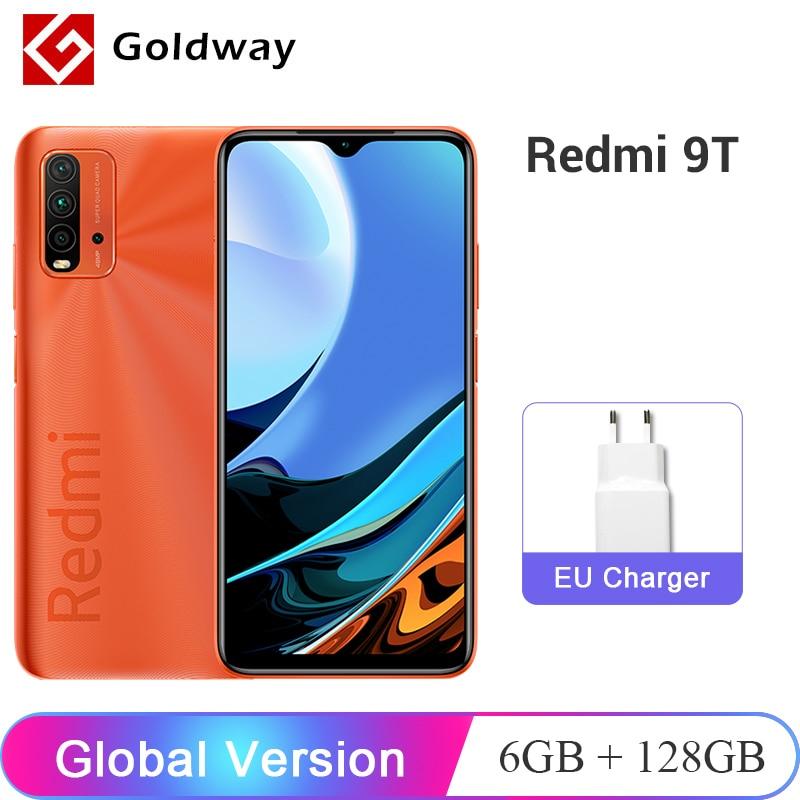 Глобальная версия Xiaomi Redmi 9T 6 ГБ 128 мобильный телефон Snapdragon 662 Octa Core 48MP камера 6000 мАч 6,53