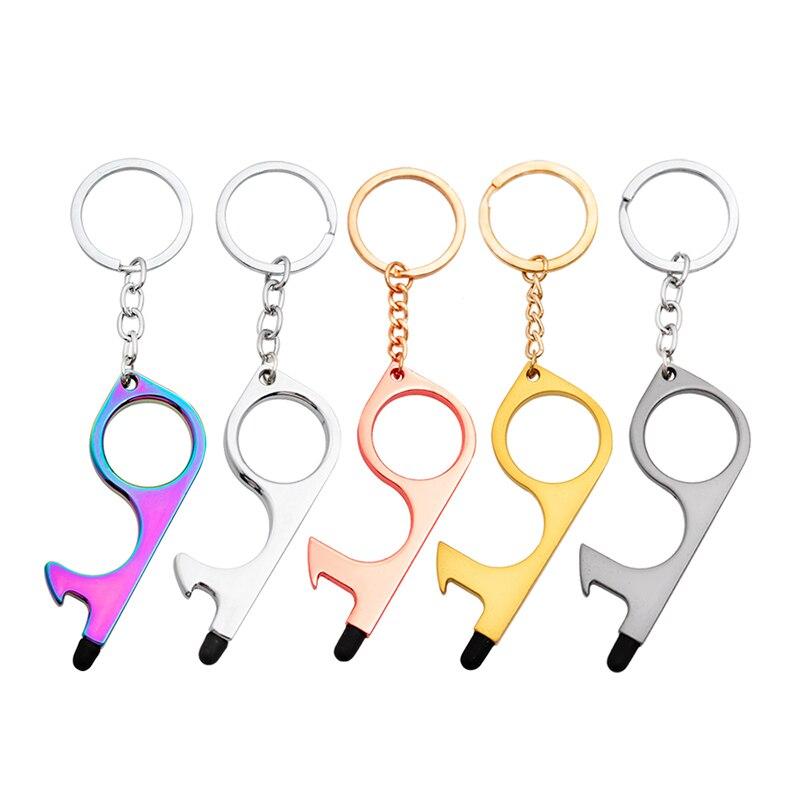 Не прикасаться двери инструмент нож для повседневного использования, брелок Лифт открытия помощник ключ ручка инструмент анти-контакт для ...
