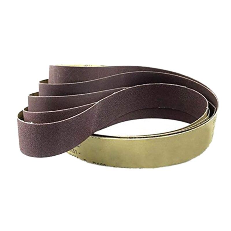 10Pcs 50x1220Mm Abrasive Polishing Sanding Belts 60 Grit Grinder Grinding Belt