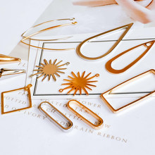 Branco k cor de ouro banhado simples wrie quadrado, pingente encantos componente de joias feito à mão material 6 peças