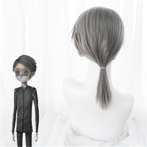 Image 4 - Game Identity V Cosplay Wig Embalmer Aesop Carl Role Play Wigs Synthetic Hair Halloween Party Performance Costume Wig+Wig Cap