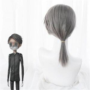 Image 4 - משחק זהות V פאת קוספליי Embalmer איזופוס קרל תפקיד לשחק פאות סינטטי שיער ליל כל הקדושים מפלגה ביצועים תלבושות פאה + כובע פאה