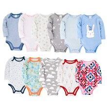 Baby Bodysuits Newborn Jumpsuit Short-Sleeve Star Roupas-De-Bebe Cotton Unisex Gray 0-12M