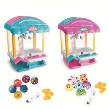 Электронный мини-коготь кран для игровых автоматов кукла захватывающая машина игрушка Конфета захватывающая машина с музыкой и светильник дети ловли куклы игры игрушки