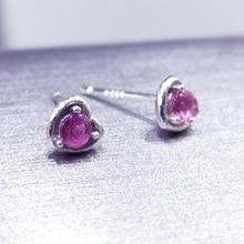 Натуральный турмалин серьги сердце дизайн ювелирные изделия стерлингового серебра Рождественский подарок для девочек