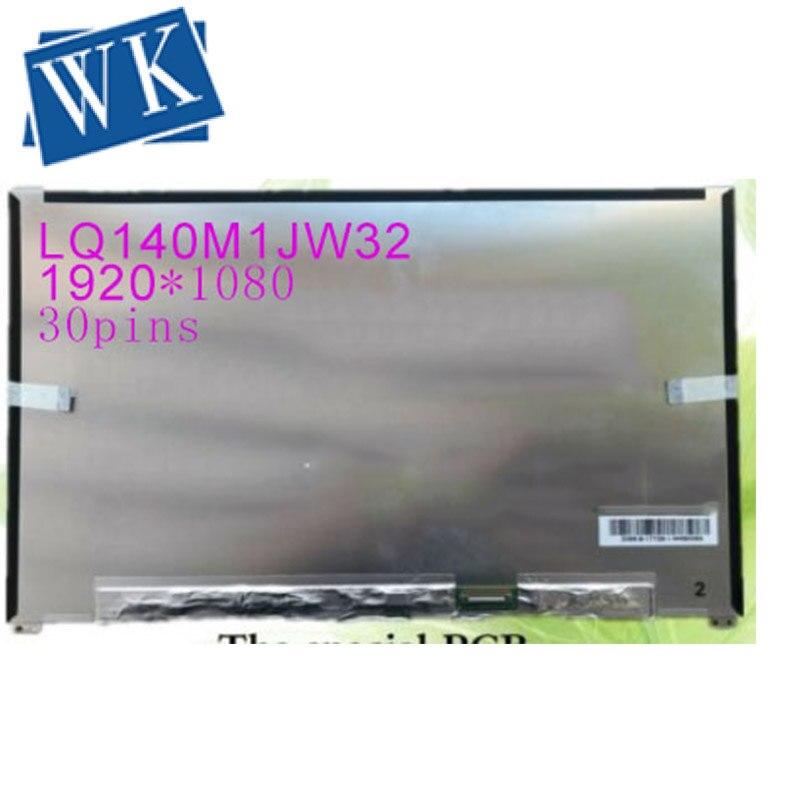 Livraison gratuite 72% affichage couleur 14 pouces FHD IPS LED LQ140M1JW32 FIT B140HAN05.0 PCB spécial 1920*1080