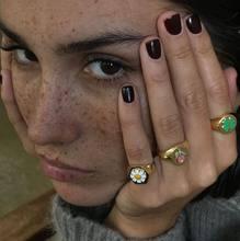 Flor anel de margarida anéis de ouro para mulher jóias anillos coração anillos bague femme atacado jóias ajustables diamante