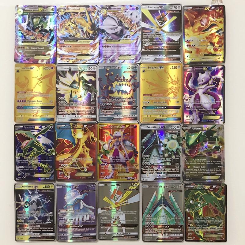 200 Pcs GX MEGA Shining TAKARA TOMY Cards Game Battle Carte 25 100pcs Pokemon Kaarten Album Trading Cards Box Toys For Children