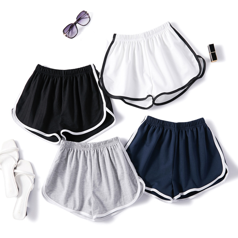 Sports Shorts Women Summer 2020 New Ladies Casual Shorts High Waist Elastic Waist Fashion Shorts Large Size