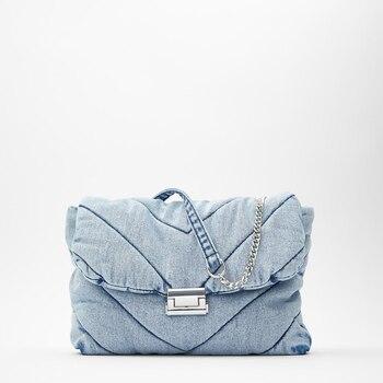 Luxo designer de jeans sacos das mulheres denim corrente crossbody sacos para mulheres 2020 bolsas femininas sacos de ombro mensageiro feminino 1