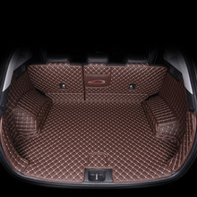 Tapete de porta-malas de carro, tapete de couro para hyundai tucson 2019 2020 suv, forro de carga, bota interior