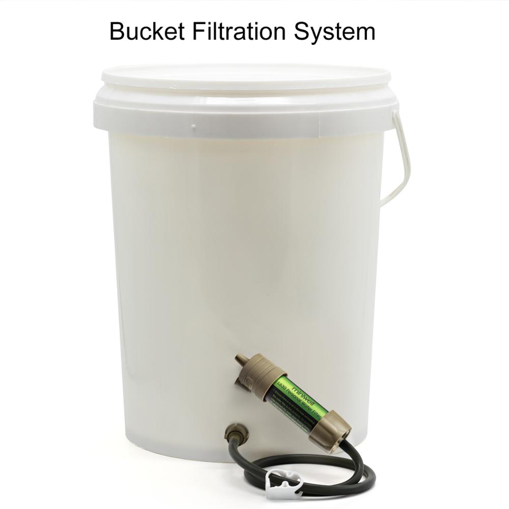 Miniwell WATER-FILTER-SYSTEM Filtration-Capacity Survival-Tool Outdoor Sport 2000-Liters