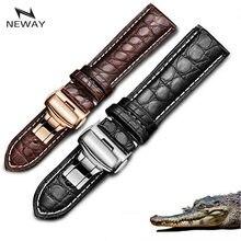 Часы из натуральной крокодиловой кожи наручные часы на кожаном