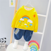 Toddler Boys Clothes Autumn Kids Boys Clothes Casual Rainbow Tops Pants Outfit Children Clothing Suit For Boys Clothing Set