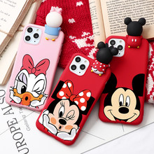 Funda de moda de pareja de dibujos animados para iphone XR 11 Pro XS Max X 5 5S silicona mate funda para el iphone 7 8 6 S 6 S Plus 7Plus(China)