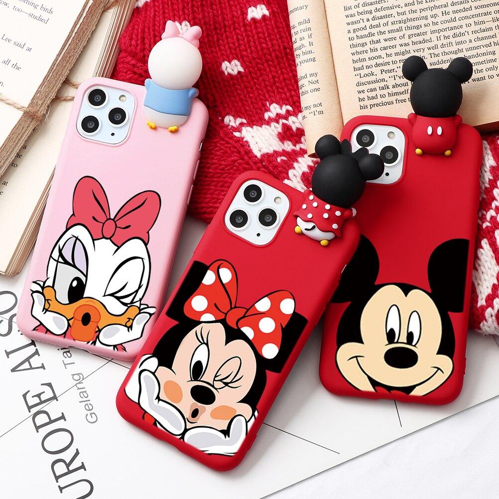Casal dos desenhos animados moda caso para iphone xr 11 pro xs max x 5 5S silicone fosco capa para iphone 7 8 6 s 6 s plus 7 mais caso meninas