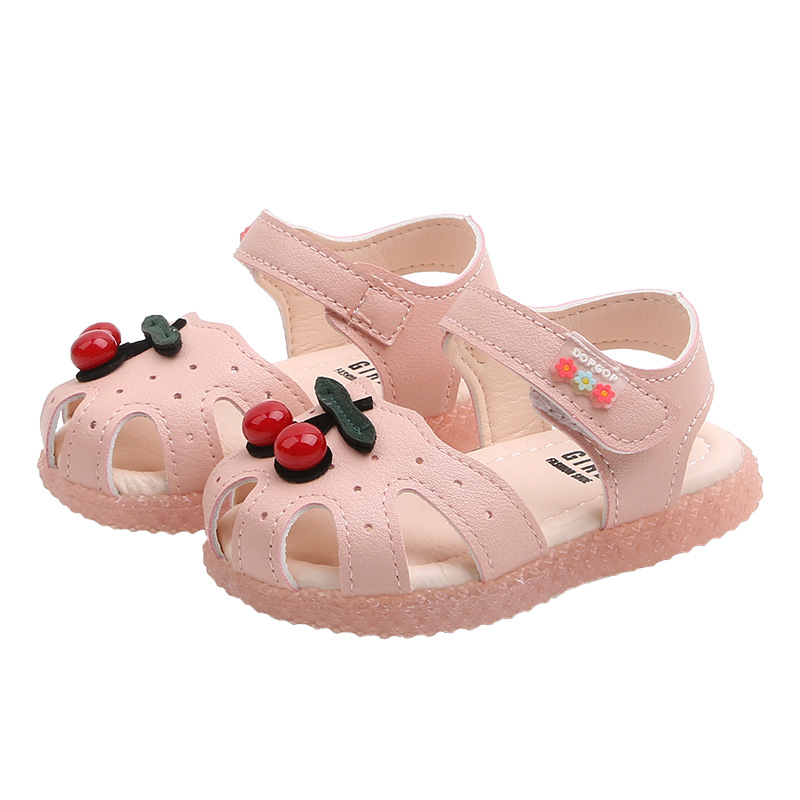 Baby Shoes Summer Toddler Infant Kids Baby Girls Cute Cherry Princess Sandals Shoes Kids Sandals