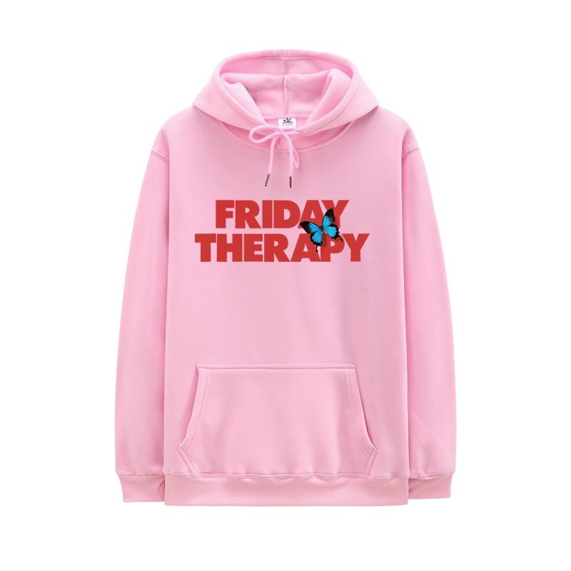 FRIDAY THERAPY Hoodie Men Women High Quality Hooded Long Sleeves Sweatshirt Brockhampton Hip Hop Hoodies Streetwear Fleece Hoody