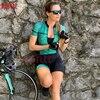 Kafit verão novo de manga curta triathlon esportes ciclismo macacão roupa ciclismo feminino macacão ir shorts terno 1