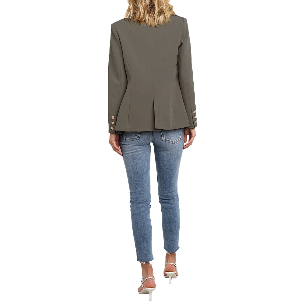 Ladies Blazer Fashion Button Blazers Women Work Suit Coat Office Lady Formal Blazers And Jackets Casual bleiser feminino D30
