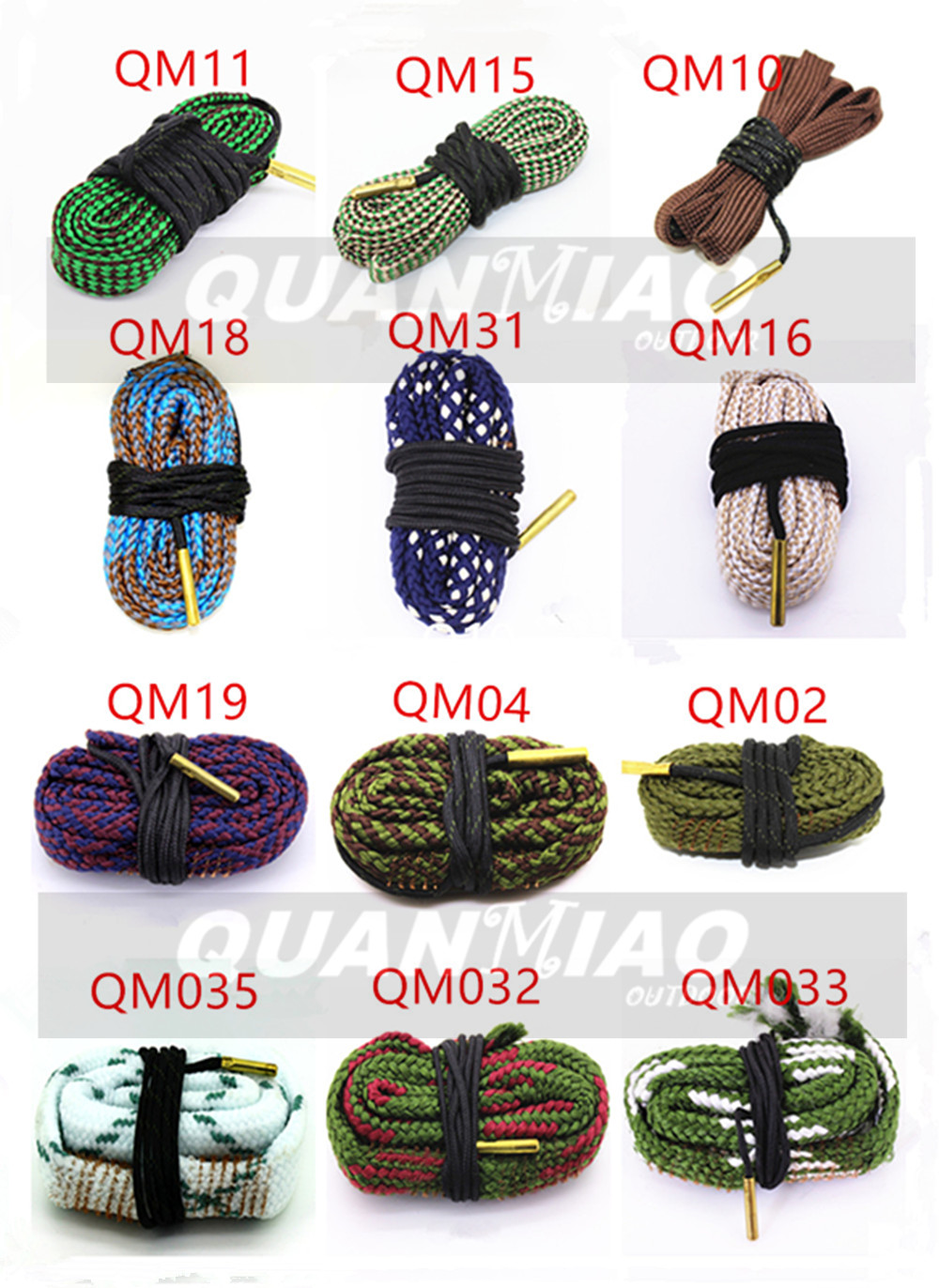 Hunting Gun Bore Cleaner Snake.22 Cal.223 Cal.38 Cal& 5.56mm,7.62mm,12GA Rifle Cleaning Kit Tool Pistol Barrel Cal Snake Rope