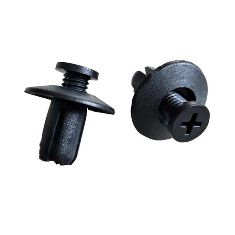 10 Pieces Support Door LED 5mm in Black Plastic ABS