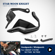 Motocicleta preta mão guardas de freio embreagem alavancas protetor handguard escudo para honda nc700 x cb650f ctx700 nc750x 2014-2018