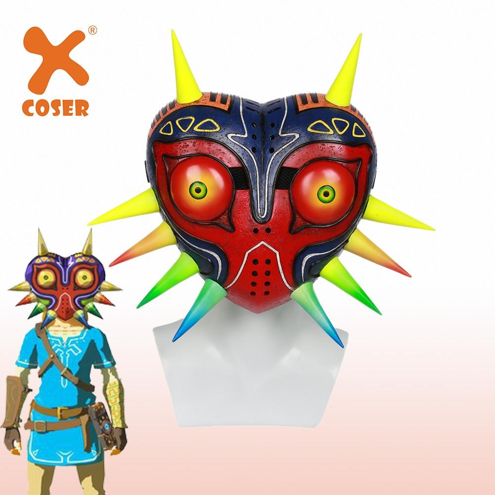 Xcoser a lenda de zelda majora jogo máscara cosplay máscaras à moda pintado festa máscara cosplay adereços acessórios para mulher