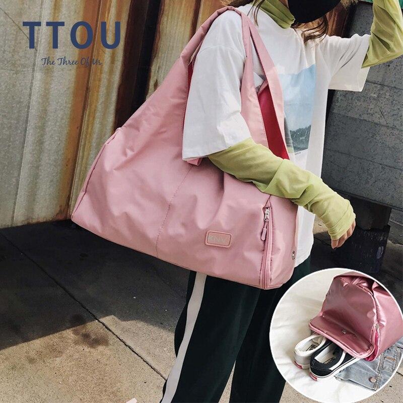 Ttou Pink Large Yoga Mat Bag Gym Fitness Bags For Women Training Sac De Sport Travel Gymtas Nylon Outdoor Sports Tas Sporttas Aliexpress