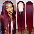 99J закрытие парик 10A прямые синтетические волосы на кружеве парики для женщин имбирь оранжево-бразильские прямые волосы парики из натуральн...