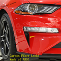 Yimaautotrims передние дневные ходовые огни лампа рамка Накладка подходит для Ford Mustang 2018 2019 2020 ABS углеродное волокно вид