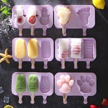 Molde reutilizável do picolé do molde do gelado do gelado do gelado dos desenhos animados