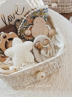 Birthday gift to newborn Full month 100 days baby beautiful white straw basket kids toy luxury good quality give souvenir gifts