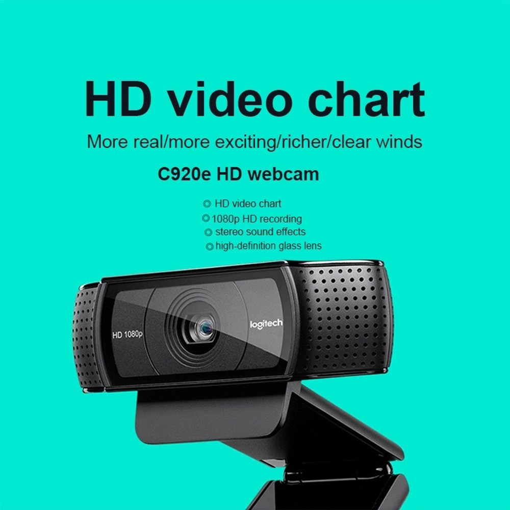 Logitech C920e Hd Pro Webcam Widescreen Video Calling And Recording 1080p Camera Desktop Or Laptop Webcam C920 Upgrade Version Surveillance Cameras Aliexpress