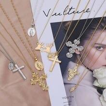 Женское ожерелье с подвеской в виде золотого Креста zovoli эффектные