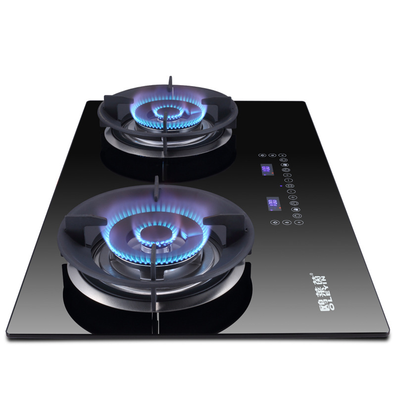 4 5kw Gas Stove Induction Function Table Embedded Dual use Touchpad Timing Cooker Dual cooker Bulit