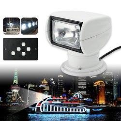 Smuxi Scheinwerfer 12V Marine Boot Scheinwerfer 2500LM Fernbedienung Weiß Einstellbare Wasserdichte Scheinwerfer Licht PC + Aluminium