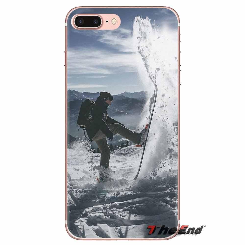 Huawei Mate onur 4C 5C 5X 6X 7 7A 7C 8 9 10 8C 8X 20 Lite Pro yumuşak şeffaf durumlarda kapakları kar veya kalıp kayak Snowboard spor