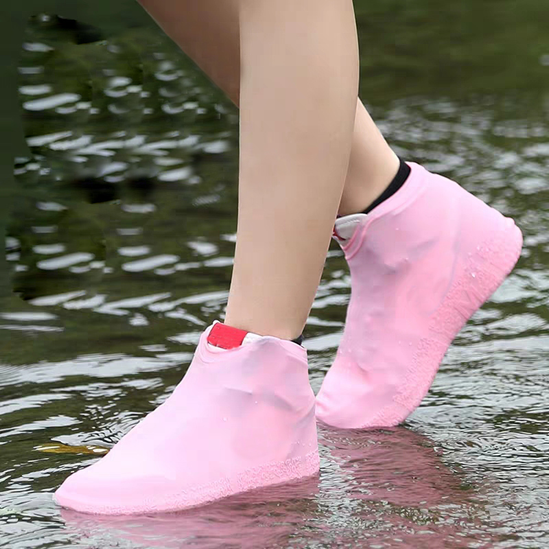 Practical Silicone Waterproof Shoe Cover Unisex Shoes Protectors Rain Boots For Indoor Outdoor Rainy Days Shoe Cover Accessories