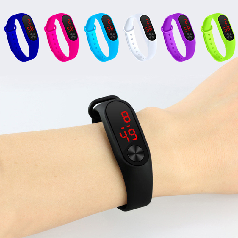 Fashion Children's Digital Led Sport Watch Casual Silicone Children Watches Wristwatch Bracelet Relogio Masculino Kids Relogio