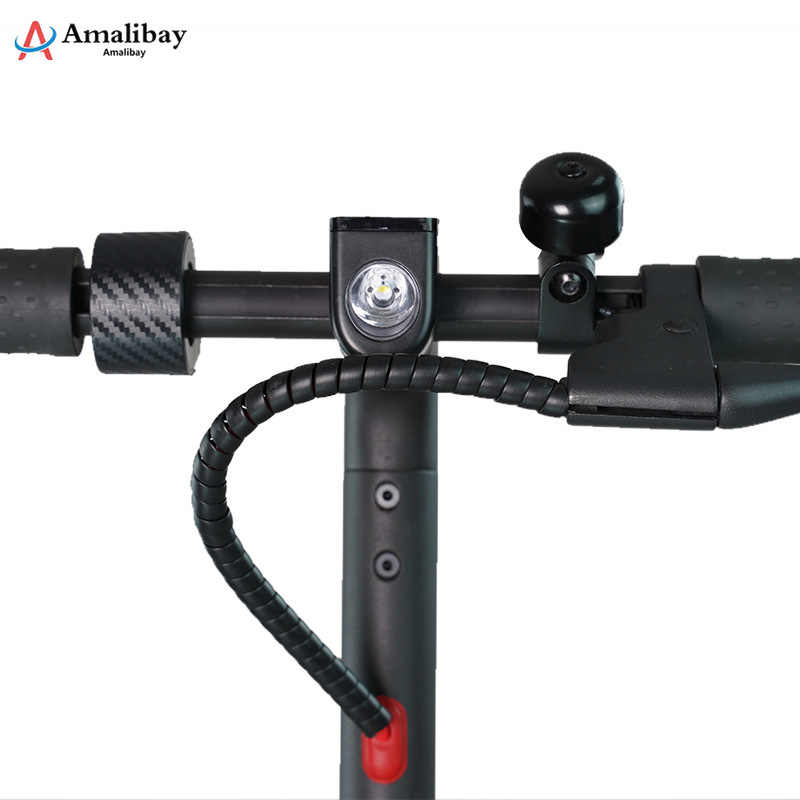 Amalibay Linea di Protezione per Ninebot Max G30 Scooter Elettrico Linea di Tubo di 1m di Lunghezza di Avvolgimento Tubi per Xiaomi M365 Pro accessori