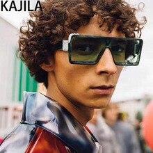 Square Sunglasses Men Gradient Mirror Driving Eyewear Brand