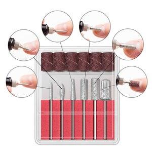 Image 4 - Juego de manicura y pedicura profesional, Mini bolígrafo portátil con USB de 15000 y 9W, taladro eléctrico para uñas, broca para cutículas de cerámica